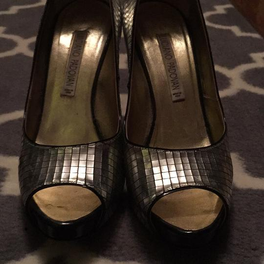 Luciano Padovan Silver and black Platforms