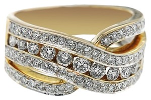 BRAND NEW, Ladies 18K Yellow Gold Diamond Ring