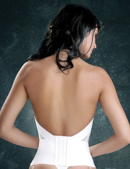 Merry Modes Merry Modes Flattering Me Longline Bra Bustier 728S Ivory Size 36B