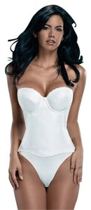 Merry Modes Merry Modes Flattering Me Longline Bra Bustier 728S White Size 36DD