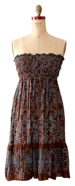 CoolChange short dress Brown Batik Beach Sundress on Tradesy