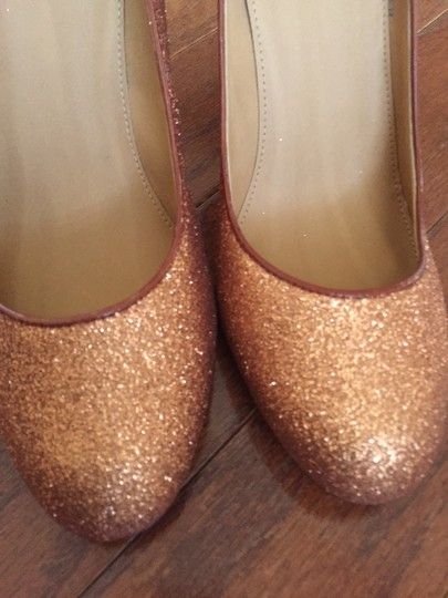 J.Crew Glitter Gold Pumps