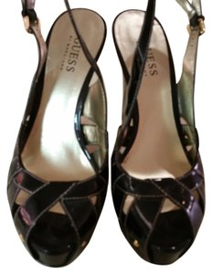 Guess By Marciano Sexy Heels Black Patent Leather Pumps