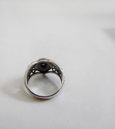 Other .925 Amethyst Marcasite Ring Size 8