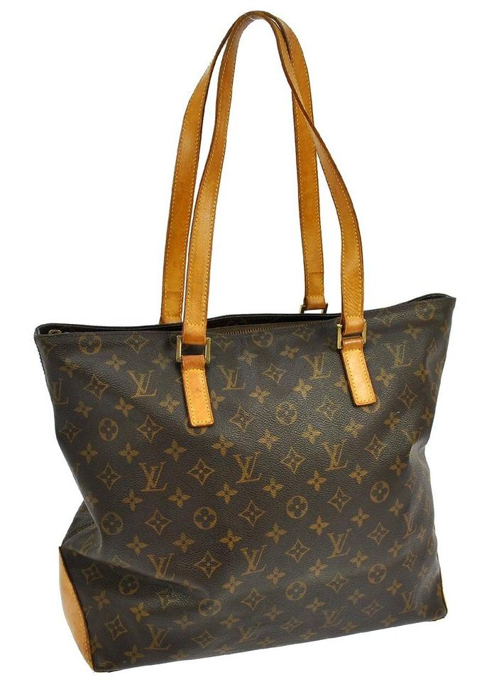 f4df377d Louis Vuitton Cabas Mezzo Monogram Large Brown Canvas Tote 76% off retail