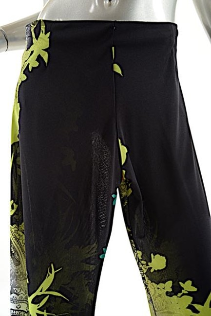 Etro Wide Leg Pants Green with Multi