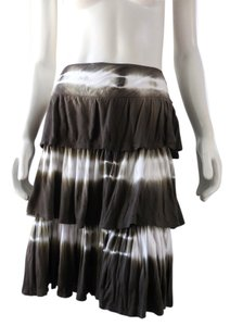 Alberto Makali Rayon Casual Ombre 1821 Skirt Brown Taupe