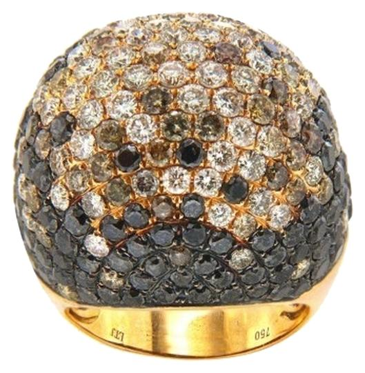 Other 18K Rose Gold Diamond Ring with Colored Diamonds