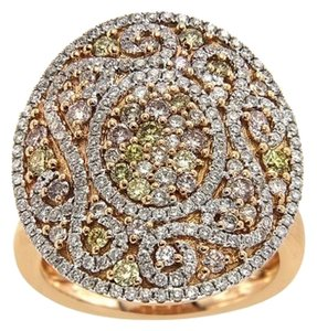 BRAND NEW, 18K Rose Gold Colored Diamond Statement Ring