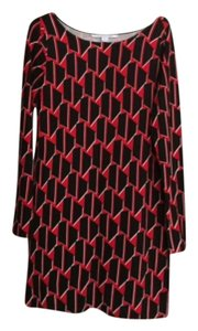 Diane von Furstenberg short dress Black & Red on Tradesy