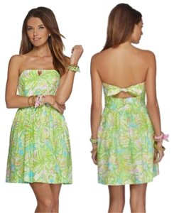 Lilly Pulitzer short dress green, multi color on Tradesy