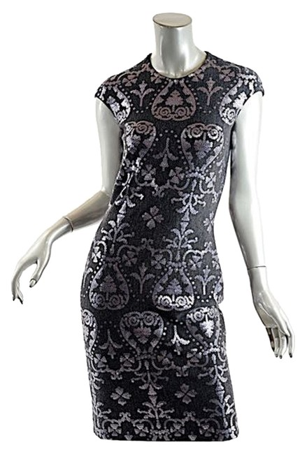 Item - Charcoal W Wool Blend W/Sequins Mid-length Night Out Dress Size 4 (S)