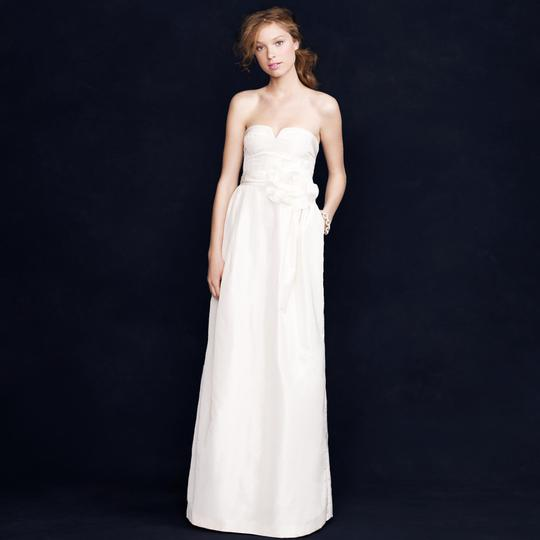 J.Crew Ivory Silk Taffeta Sascha Modern Wedding Dress Size 6 (S)