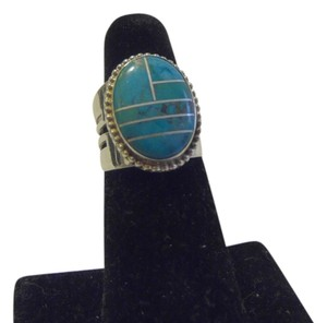 Mine Finds by Jay King Mine Finds by Jay King .925 Sterling Silver Turquoise Overlay Ring Size 7