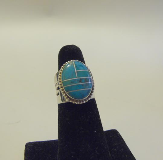 Mine Finds by Jay King Jay King .925 Sterling Silver Turquoise Overlay Ring Size 7
