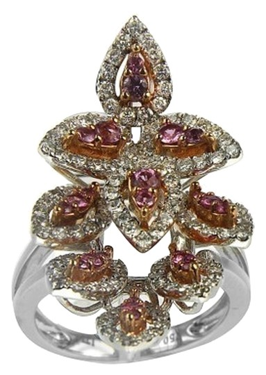 Other BRAND NEW, Ladies 18K White Gold Red Sapphire and Diamond Ring