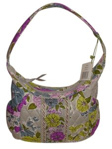 Vera Bradley Satchel in Gray/Lavender/Lime