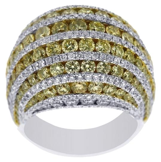 Other BRAND NEW, Ladies 18K Yellow and White Diamond Cocktail Ring