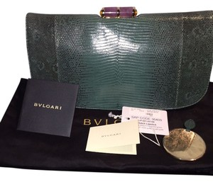 BVLGARI Evening Forest Green Clutch