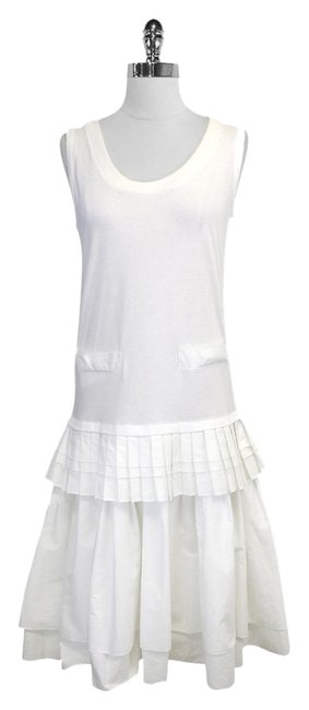 Preload https://item2.tradesy.com/images/marni-white-cotton-sleeveless-pleated-mid-length-short-casual-dress-size-8-m-4272271-0-0.jpg?width=400&height=650