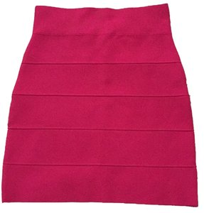 BCBGMAXAZRIA Bcbg Hot Pink Pink Sexy Club Night Out Bandage Curvy Slimming Power Fashion Designer Skirt Azalea