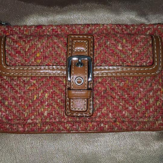 Coach Wristlet in Red, Brown