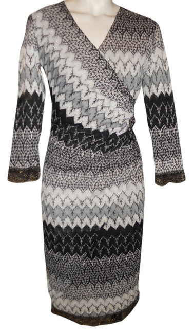 Preload https://item3.tradesy.com/images/black-white-and-grey-mock-wrap-lace-knee-length-night-out-dress-size-2-xs-4272847-0-0.jpg?width=400&height=650