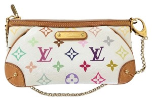 d5081c8a8ff Louis Vuitton Clutch Milla Clutch/Wristlet In Excellent Condition  Multicolor Leather Shoulder Bag