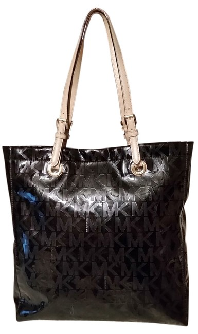 Michael Kors Shoulder Bags Black Patent Leather Tote Michael Kors Shoulder Bags Black Patent Leather Tote Image 1