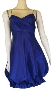 London Times Balloon Taffeta Royal Dress