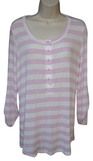 Pleione Striped Light Convertible Sleeve Sweater