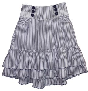 Urban Outfitters Steampunk Tiered Hi Lo Skirt Blue