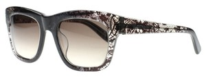 Valentino Valentino Lace Black Grey Wayfarer Sunglasses 100% UV protect
