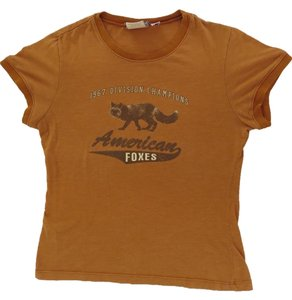 Realitee Clothing Vintage Graphic Foxes Burnt Orange T Shirt