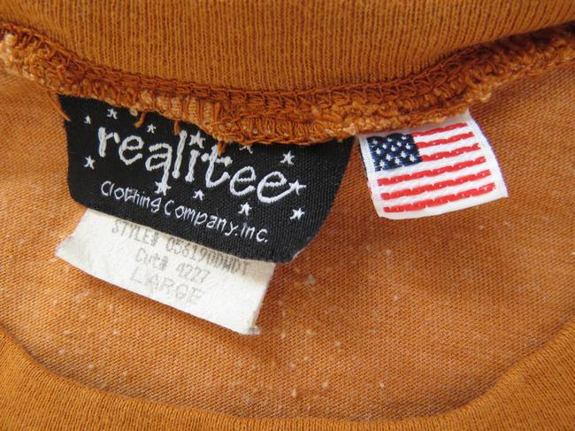 Realitee Clothing Vintage Graphic Foxes Orange T Shirt Burnt Rust