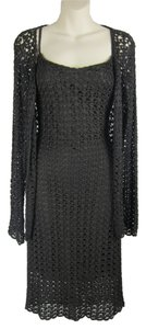 Anne Klein short dress brown Net Sweater Set Cardigan Rayon on Tradesy