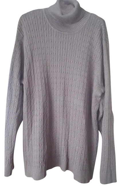d&co. essentials Plus-size Cable Knit Turtleneck Sweater