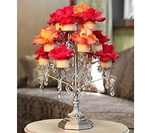 Silver Opulent Treasures Cupcake/Candle Stand Reception Decoration
