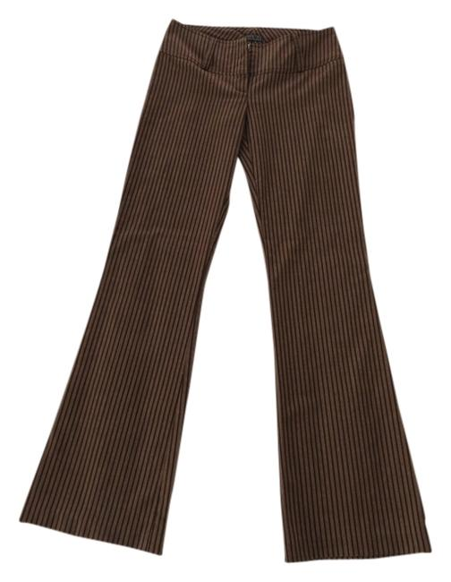 Other Dressy Elegant Size 0 Trouser Pants Brown pinstripe