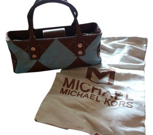 Michael Kors Satchel in Brown leather W light blue