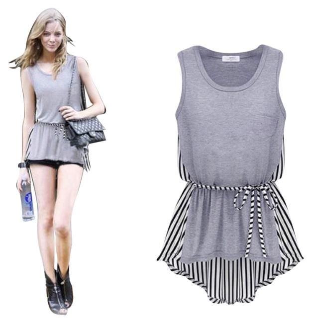 Preload https://item1.tradesy.com/images/grey-with-b-and-w-irregular-hem-striped-t-shirt-tank-topcami-size-os-one-size-4278040-0-0.jpg?width=400&height=650