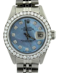 Rolex LADIES ROLEX DATEJUST BLUE MOP DIAMOND WATCH