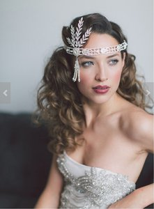 Wedding Headpiece Bridal Headband Tiara Great Gatsby Art Deco Downton Abbey Style Jewelry