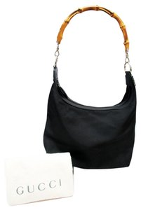 Gucci Bamboo Bamboo Satchel in Black