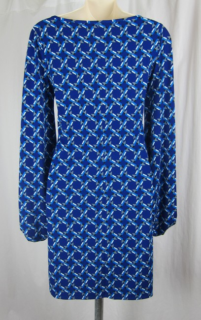 Laundry by Shelli Segal short dress blue Stretchy Mod Hippie Boho Geometric on Tradesy