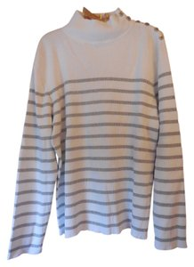 Lauren Ralph Lauren Plus-size Logo Striped Sparkle Sweater
