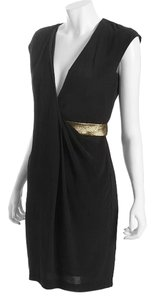 Diane von Furstenberg Dvf Formal Night Out Date Night Metallic Dress