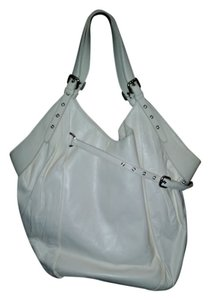 Kooba Tote Dale White Leather Shoulder Bag