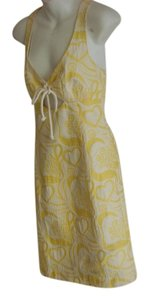 Trina Turk short dress Yellow/White Sleeveless Geometric New on Tradesy