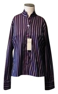 Façonnable New Button Up Button Down Shirt Purple